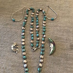 Turquoise and silver bundle